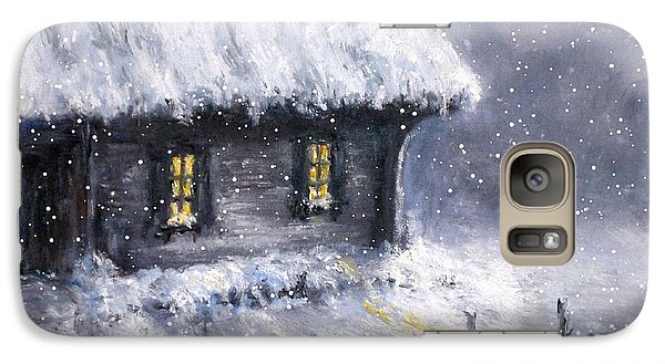 Galaxy Case featuring the painting Christmas Eve by Arturas Slapsys