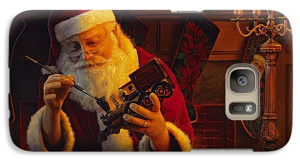 Train Galaxy S7 Case - Christmas Eve Touch Up by Greg Olsen
