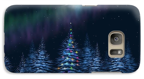 Galaxy Case featuring the painting Christmas Eve by Veronica Minozzi