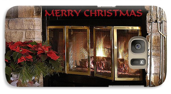 Galaxy Case featuring the photograph Christmas Fireplace by Geraldine Alexander