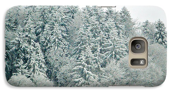 Galaxy Case featuring the photograph Christmas Forest - Winter In Switzerland by Susanne Van Hulst