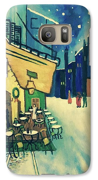 Galaxy Case featuring the painting Christmas Homage To Vangogh by Victoria Lakes