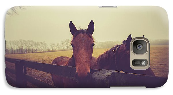 Galaxy Case featuring the photograph Christmas Horses by Shane Holsclaw