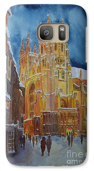 Christmas In Canterbury Galaxy S7 Case by Beatrice Cloake