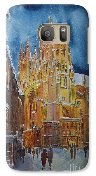 Galaxy Case featuring the painting Christmas In Canterbury by Beatrice Cloake
