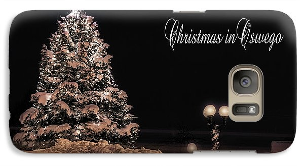 Galaxy Case featuring the photograph Christmas In Oswego by Everet Regal