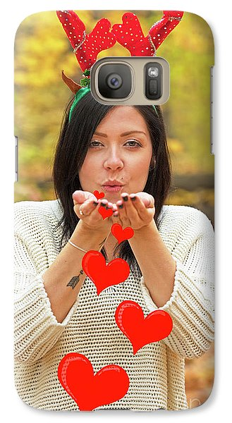 Galaxy Case featuring the photograph Christmas Kisses.. by Nina Stavlund