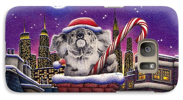 Christmas Koala In Chimney Galaxy S7 Case
