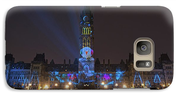 Galaxy Case featuring the photograph Christmas Lights Across Canada.. by Nina Stavlund