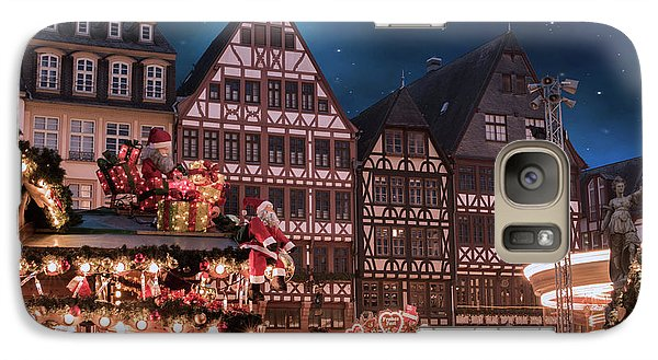 Galaxy Case featuring the photograph Christmas Market by Juli Scalzi