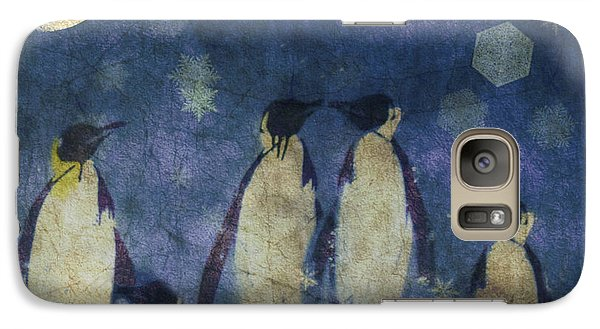 Penguin Galaxy S7 Case - Christmas Moon  by Paul Lovering