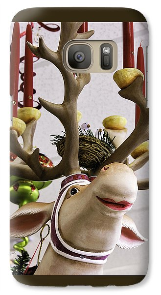 Galaxy Case featuring the photograph Christmas Reindeer Games by Betty Denise