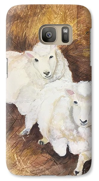 Galaxy Case featuring the painting Christmas Sheep by Lucia Grilletto