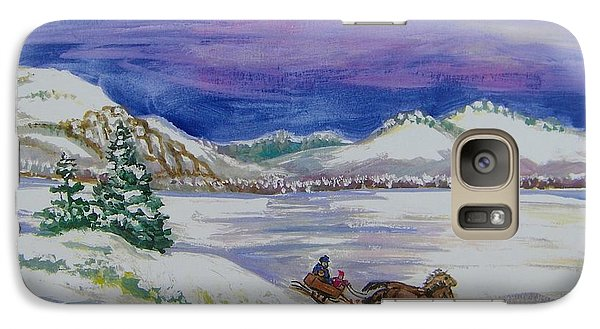 Galaxy Case featuring the painting Christmas Sleigh by Dawn Senior-Trask