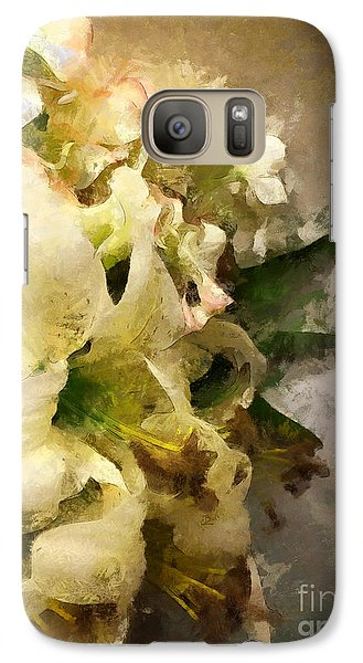 Christmas White Flowers Galaxy S7 Case