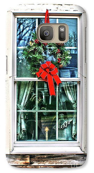 Galaxy Case featuring the photograph Christmas Window by Sandy Moulder
