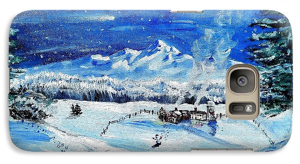Galaxy Case featuring the painting Christmas Wonderland by Shana Rowe Jackson