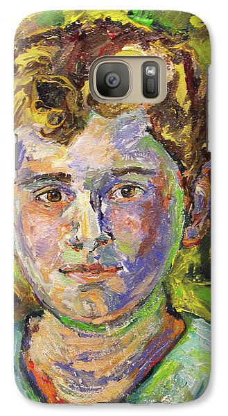 Galaxy Case featuring the painting Christopher by Koro Arandia
