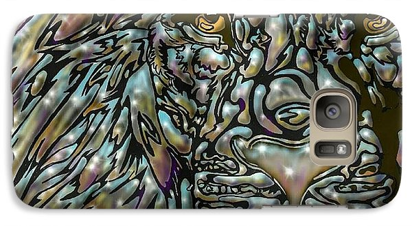 Galaxy Case featuring the digital art Chrome Lion by Darren Cannell