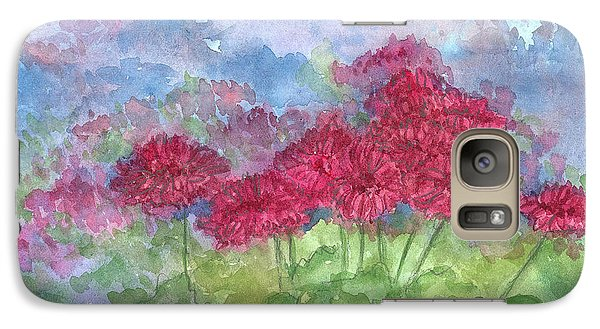 Galaxy Case featuring the painting Chrysanthemums by Cathie Richardson