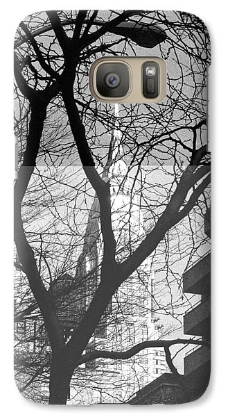 Galaxy Case featuring the photograph Chrysler Building And Tree by Dave Beckerman