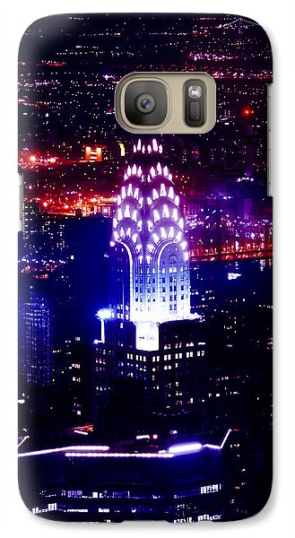 Chrysler Building Galaxy S7 Case - Chrysler Building At Night by Az Jackson