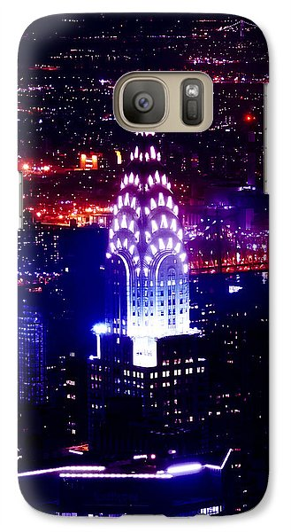 Chrysler Building At Night Galaxy Case by Az Jackson