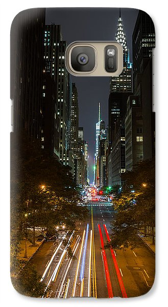 Galaxy Case featuring the photograph Chrysler Building At Night by Chris McKenna