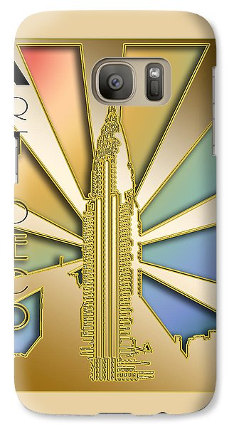 Galaxy Case featuring the digital art Chrysler Building - Chuck Staley by Chuck Staley
