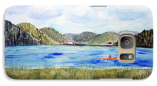 Galaxy Case featuring the painting Chrystal Lake  Barton Vt  by Donna Walsh