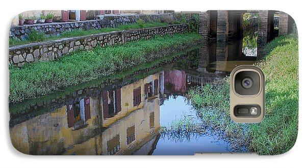 Galaxy S7 Case featuring the photograph Chua Cau Reflection by Hitendra SINKAR