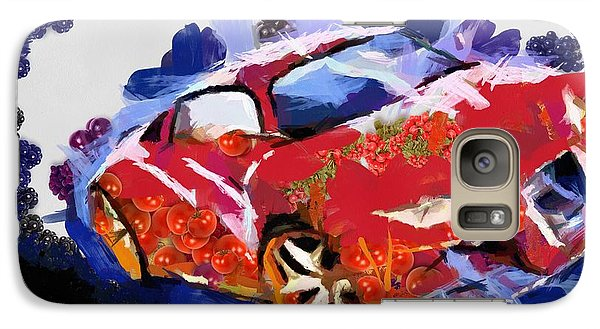 Galaxy Case featuring the painting Chubby Car Red by Catherine Lott