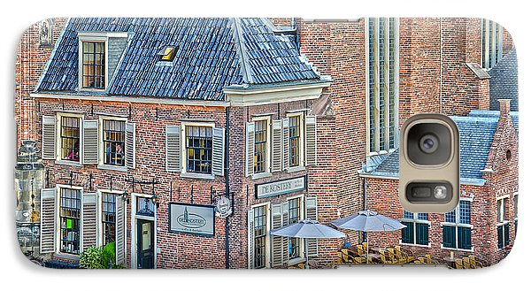 Galaxy Case featuring the photograph Church Cafe In Groningen by Frans Blok