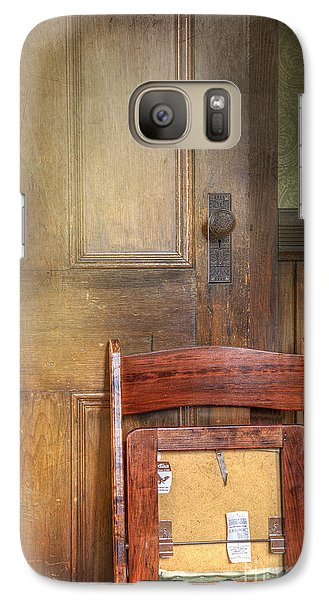 Galaxy Case featuring the photograph Church Chair by Craig J Satterlee