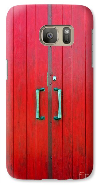 Galaxy Case featuring the photograph Church Door by Ethna Gillespie