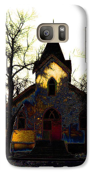 Galaxy Case featuring the digital art Church I by Stuart Turnbull