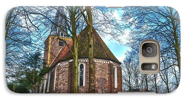 Galaxy Case featuring the photograph Church In Winsum by Frans Blok