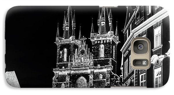 Galaxy Case featuring the photograph Church Of Our Lady Before Tyn. Night Prague by Jenny Rainbow
