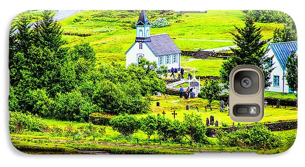 Galaxy Case featuring the photograph Church On The Green by Rick Bragan