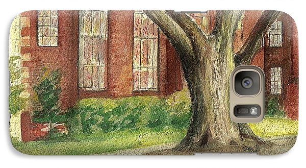 Galaxy Case featuring the painting Church Tree by Denise Fulmer