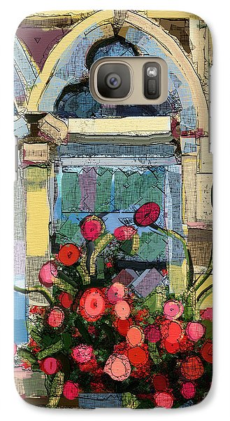 Galaxy Case featuring the painting Church Window by Carrie Joy Byrnes