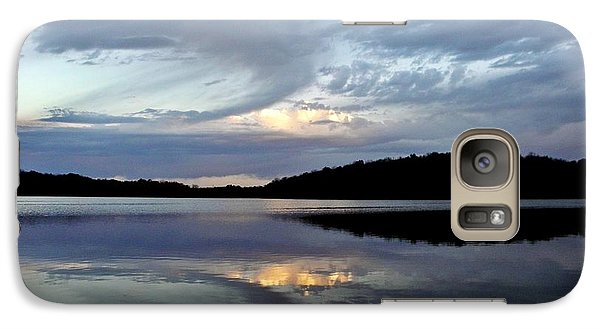 Galaxy Case featuring the photograph Churning Clouds At Sunrise by Chris Berry