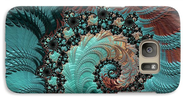 Galaxy Case featuring the digital art Churning Sea Fractal by Bonnie Bruno