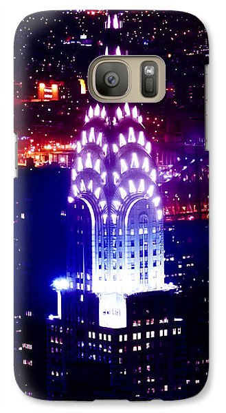 Chrysler Building Galaxy S7 Case - Chyrsler Lights by Az Jackson