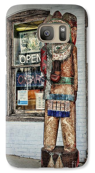 Galaxy Case featuring the photograph Cigar Store Indian by Paul Ward