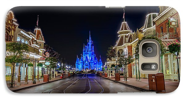 Cinderella Castle Glow Over Main Street Usa Galaxy S7 Case
