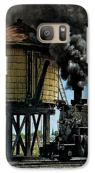 Galaxy Case featuring the photograph Cinders And Water by Ken Smith