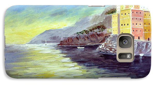 Galaxy Case featuring the painting Cinque Terre Dreams by Larry Cirigliano