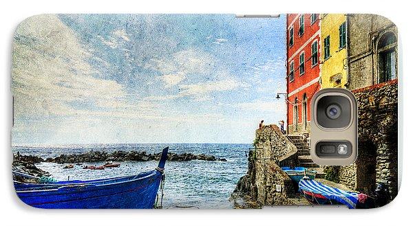 Cinque Terre - Little Port Of Riomaggiore - Vintage Version Galaxy S7 Case