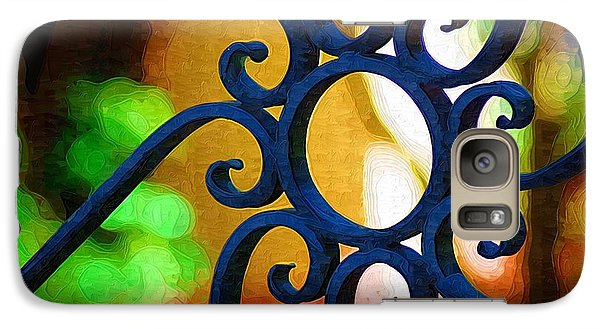Galaxy Case featuring the photograph Circle Design On Iron Gate by Donna Bentley